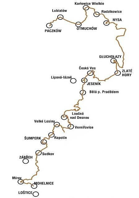 Mapa Szlak czarownic